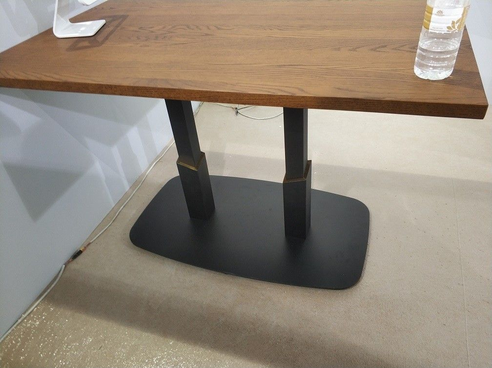 Professional Square Dining Table Legs Sandy Texture Metal Table base Custom Made